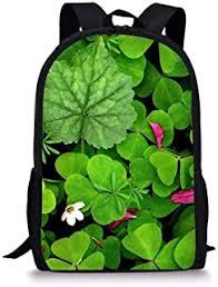 <b>WHEREISART</b> Green Clover <b>Design</b> Shoulder Backpack Casual ...