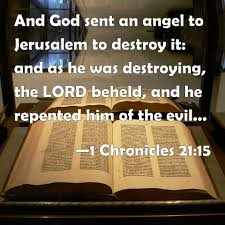 Image result for THE LORD STOPS THE ANGEL OF THE LORD FROM DESTROYING JERUSALEM