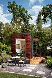 joeys small and spacious modern abode tech tour backyard studio backyards and studios backyard home office pod