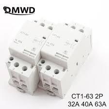 CT1 63 <b>2P 32A 40A 63A</b> 220V/230V 50/60HZ Din rail Household ac ...