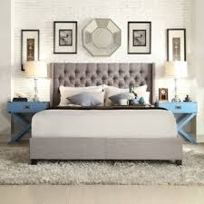 signal hills naples wingback button tufted upholstered king bed bed furniture image