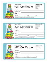 Birthday Gift Certificate Template Free Printable ... Birthday Gift Certificate Template Free Printable