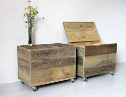 Wooden <b>Storage Box</b>, Large Wooden Organiser Chest Side Table ...