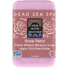 One with Nature, <b>Triple Milled Mineral</b> Soap Bar, Rose Petal, 7 oz ...
