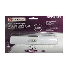 utilitech 6 in battery under cabinet led light bar cabinet lighting 6