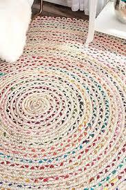 Natural <b>Braided Area</b> Rag Chindi Hardwood Jute Floor <b>Woven</b> ...