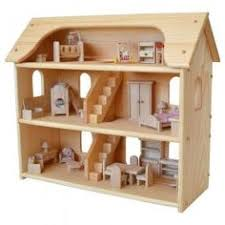 Natural Wooden Dollhouse  Toy Dollhouse  Waldorf Dollhouse    Seri    s Wooden Dollhouse made in Maine  Plan Toys Dollhouse Furniture  From Bella Luna Toys