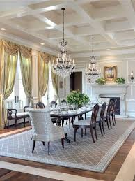 Big Dining Room Formal Dining Rooms With Double Chandelier Over Dining Table And