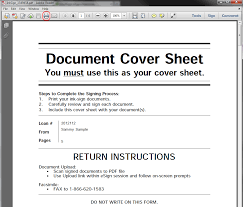 esign docmagic note in either method of return you must attach the cover sheet to the ink pen signed documents