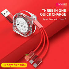 <b>3in1 Liquid silicone</b> Fast Charging Data Cord skin friendly Cable ...