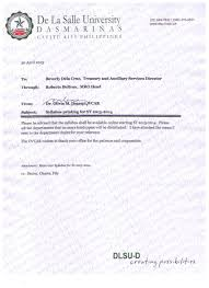 de la salle university dasmari ntilde as memo 098 syllabus printing for sy 2013 2014