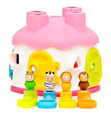 Развивающий домик-<b>сортер Smoby</b> Cotoons, розовый - купить в ...