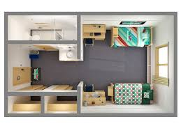 Floor Plans   Office of Residence Life   University of Wisconsin        Room Floor Plans  D  middot  D  top