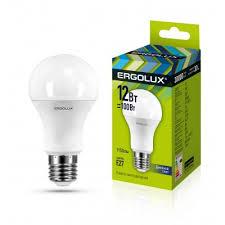 <b>Светодиодная лампа Ergolux LED</b>-<b>A60</b>-<b>12W</b>-E27-6K