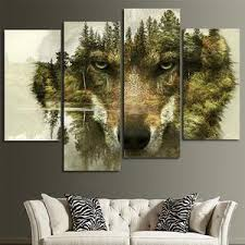 <b>Wolf</b> Canvas <b>Wall Art Prints</b> | <b>Wall Decor</b> by ElephantStock