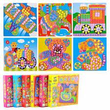 6 Designs per Set Kids <b>EVA Mosaic</b> Stickers Kids Art Crafts DIY ...