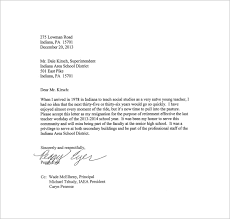 simple resignation letter template –    free word  excel  pdf    teacher resignation simple letter for superintendent free pdf