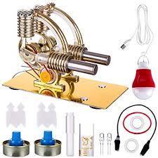 Yamix Stirling Engine Kit, L-Shape Double Cylinders ... - Amazon.com