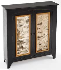 painted furniture two door cabinet with birch bark panels bark furniture
