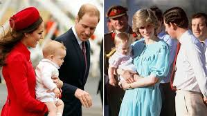 Royal Family Photo comparison of Charles and Diana since 1986 to 2015