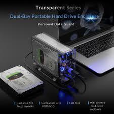 <b>ORICO</b> Dual 3.5'' USB3.0 HDD Case 6Gbps SATA to USB 3 ...