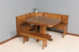 mission breakfast nook set from dutchcrafters amish furniture amish corner breakfast nooks