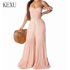 KEXU Women Fashion Bling <b>Sequined</b> Jumpsuits <b>Long</b> Sleeve ...