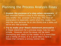 process analysis essay   planning the process analysis essay