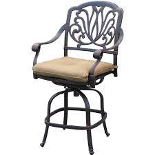 patio stool: darlee elisabeth patio counter height swivel bar stool antique bronze