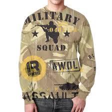 """Свитшот мужской с полной запечаткой """"Military"""" #2645420 от ..."""