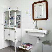 floor cabinets glass doors bathroom