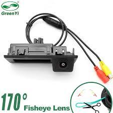 GreenYi 170 degree Fisheye Car Reverse <b>Rear View Trunk Handle</b> ...
