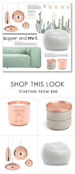 rack gift home decor modern geometrical quotcopper and mintquot by mariarty on polyvore featuring interior int