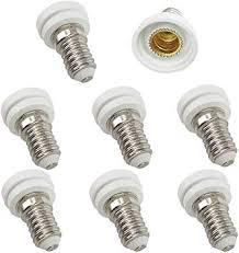 DZYDZR <b>8pcs</b> LED Bulb <b>Base</b> Socket E14 to E12 Adapter Converter ...