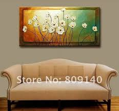 oil painting on canvas decoration flower beautiful color high quality hand painted home office hotel wall art decor free ship artwork for office walls