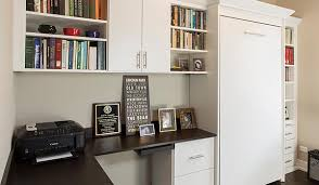 murphy bed turns office into a bedroom for chicago homeowner bedroom guest office combination
