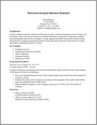 how to write technical resume com how to write technical resume technical analyst resume
