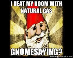 I heat my room with natural gas Gnomesaying? - Gnome Chompski ... via Relatably.com