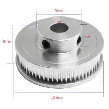 RuiLing <b>1PC Aluminum Alloy</b> GT2 Timing Pulley Bore 8mm Teeth 40 ...