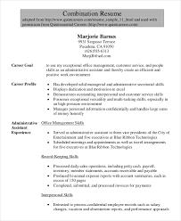 senior administrative assistant combination resumes resume templates for administrative assistants