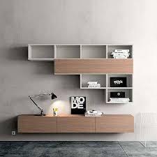 contemporary wall mounted tv media unit pro by morassutti bespoke wall storage
