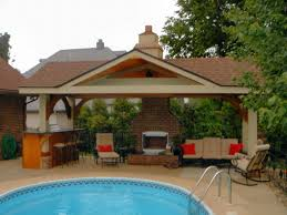 Pool House Designs for Beautiful Pool Area  Pool House Designs    Pool House Designs for Beautiful Pool Area  Pool House Designs Natural Stone Fireplace High Bar Chairs  dickoatts com Garden   pool house   Pinterest