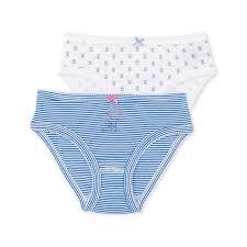 <b>Комплект из 2-х пар</b> трусов PETIT BATEAU белый:голубой ...