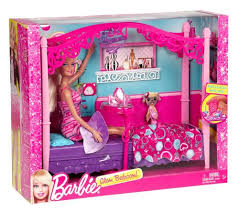 buy barbie glam bedroom furniture and doll set online at low prices in india amazonin barbie bedroom furniture