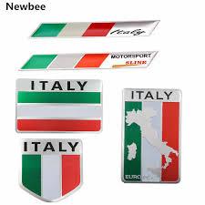 Newbee <b>Metal</b> Italy Flag <b>Emblem Badge Car Styling</b> Sticker Decal ...