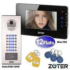 SOTER SECURITY Wired <b>7 Inch TFT</b> LCD Color Touch Key Screen ...