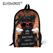<b>ELVISWORDS Boys School Bags</b> 3D Painting Handsome Dogs ...