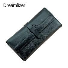 <b>Dreamlizer</b> 100% <b>Genuine Leather</b> Wallet Women Triold Leather ...