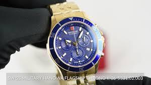 <b>Swiss Military Hanowa</b> Flagship Chrono II 06-5331.02.003 - YouTube