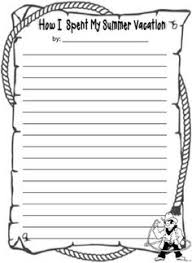 summer vacations  education world and world on pinterestdownload these fun writing sheets to use   the book  quot how i spent my summer vacation quot  by mark teague  in my classroom we use the story to create